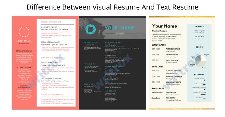 visual resume vs text resume